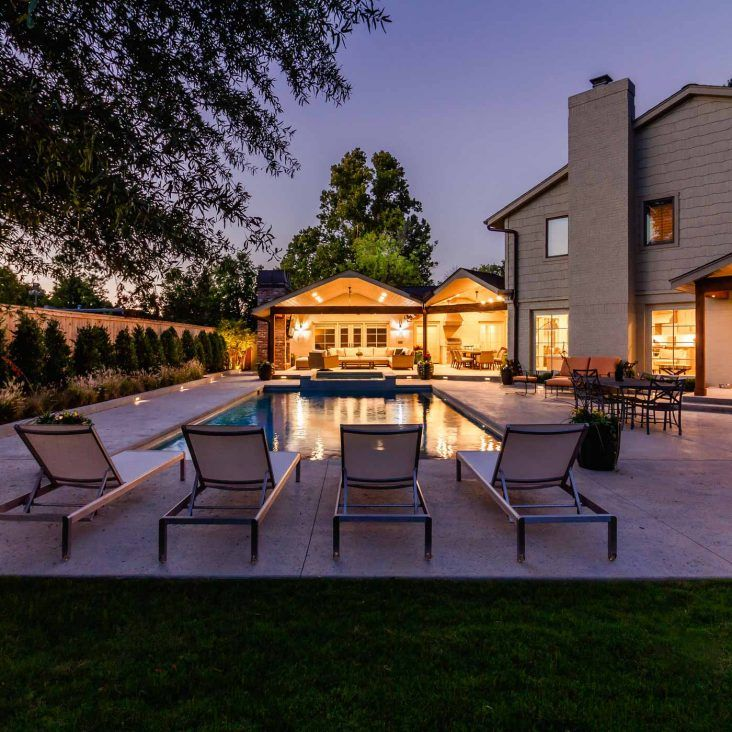 Outdoor Living Construction Projects Tulsa Home Innovations Pools Backyard Inground Backyard Pool Outdoor Living