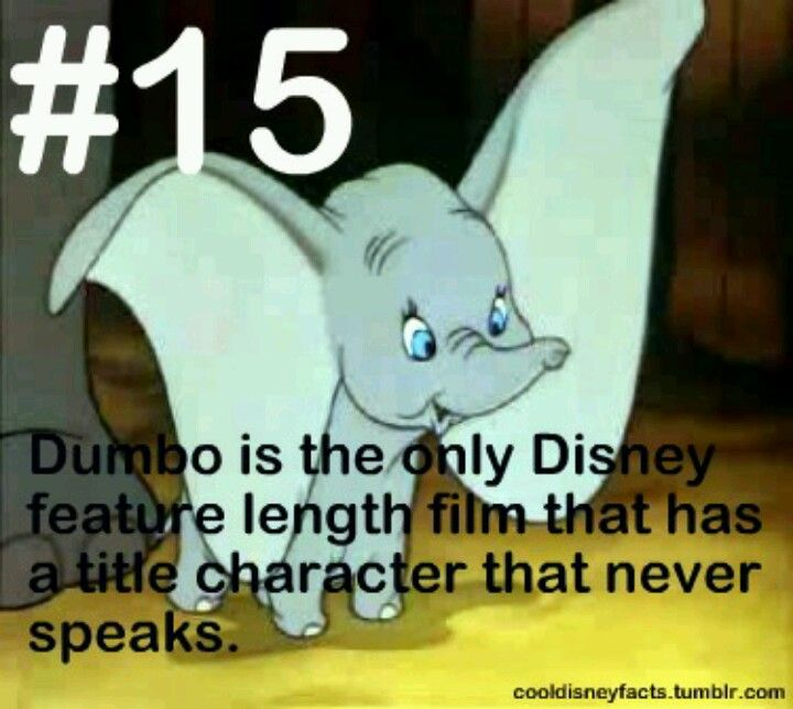 Disney facts - I never thought about that!