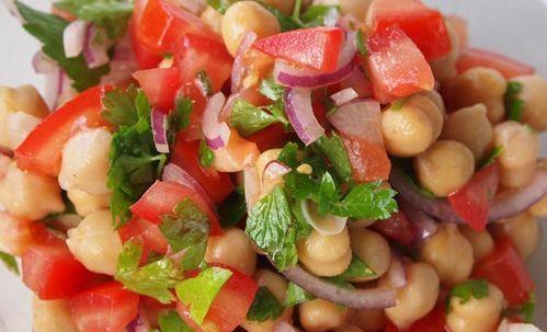 Moroccan Chickpea Salad (with andouille, feta, zucchini, black pepper) - Siba's Table - (picture issue?)