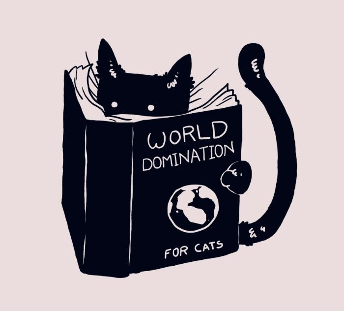 World Domination For Cats Art Print by Tobe Fonseca                                                                                                                                                                                 More