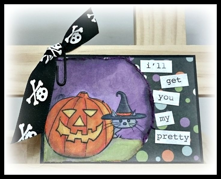 Day 7 - 31 Days of Halloween 2015 meets Sweet Pea Stamps and Wicked Wednesday ATC Challenge