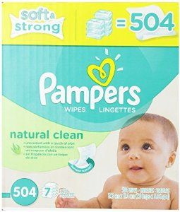 Pampers Natural Clean Wipes 7x Box 504 Count $10.97