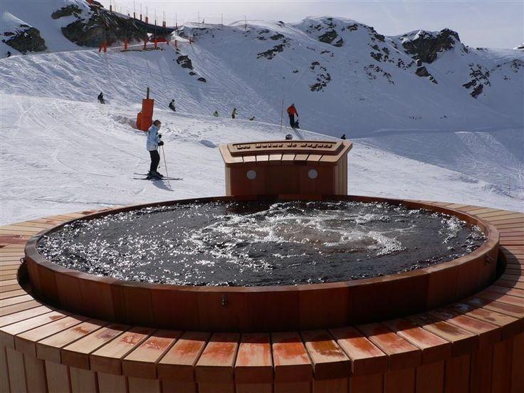 Jacuzzi sur les piste de ski Verbier - Valais