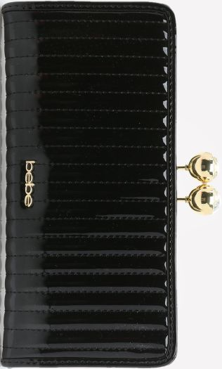 •Website: http://www.cuteandstylishbags.com/portfolio/bebe-blk-kisslock-quilted-wallet/ •Item: bebe BLK Kisslock Quilted Wallet