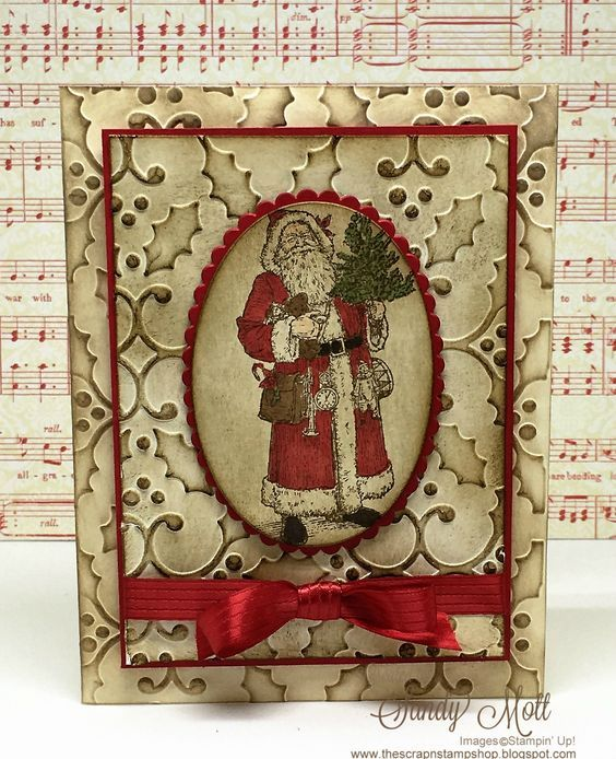 Father Christmas - Stampin' Up! Vintage card created by Sandy Mott: