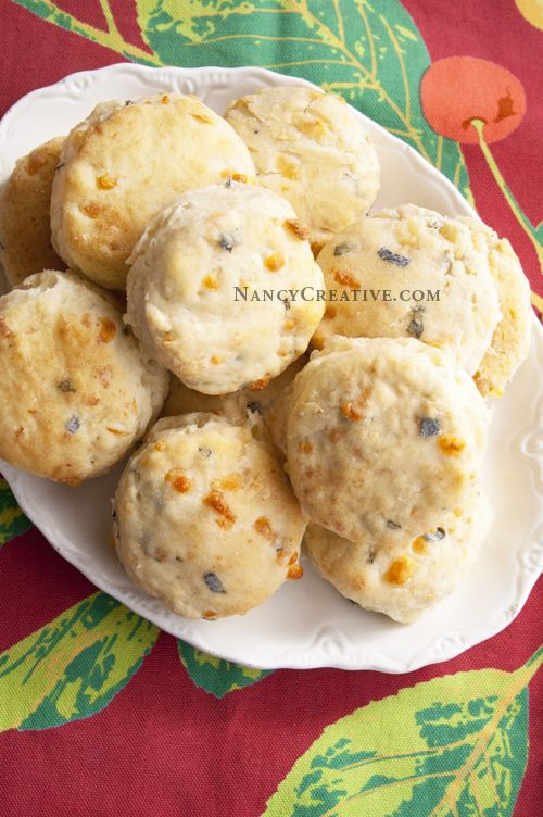 White Cheddar and Sage Biscuits...a wonderful savory biscuit! Serve ...