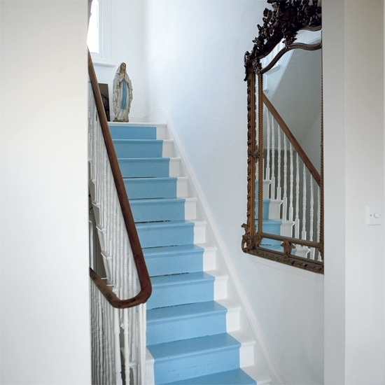 Victorian terrace painted stairs