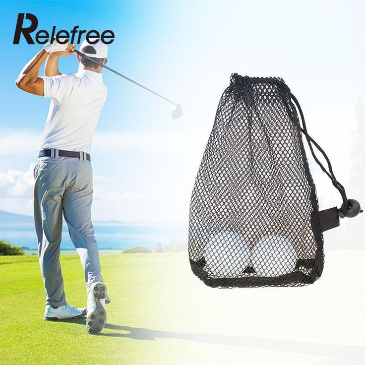 Relefree Mesh Net Bag Golf Tennis 12/25/50 Balls Carrying Holder Drawstring Storage Pouch //Price: $8.56 & FREE Shipping //     #hashtag1