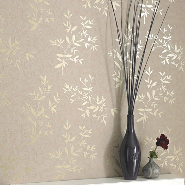 Bijou Beige Wallpaper - Floral Wall Coverings by Graham  Brown