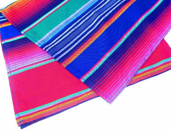Mexican Table Runner Authentic Serape Fabric by Mexicanhomedecor, $23.00
