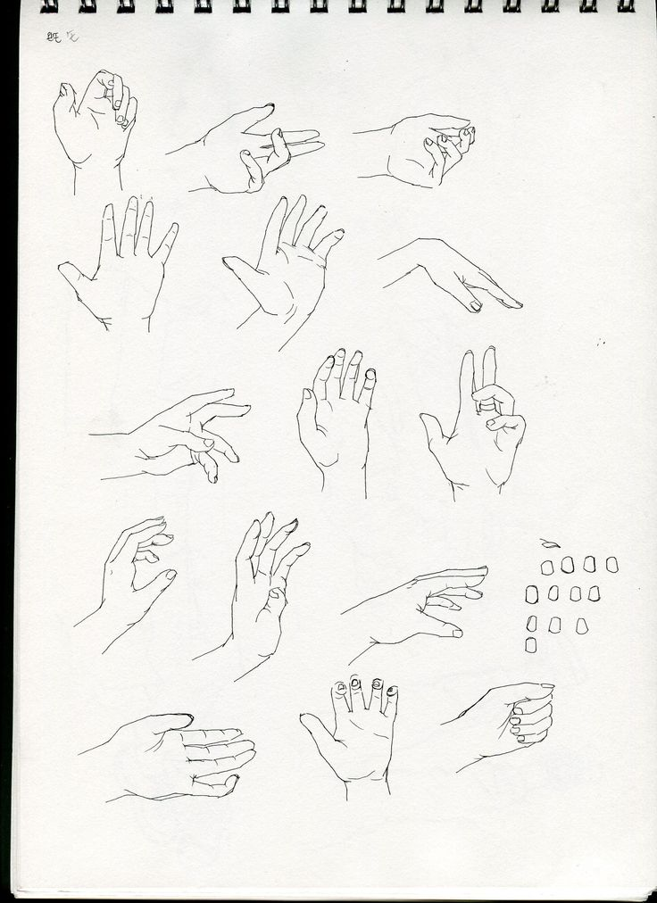 left hand drawing croquis /January,2015