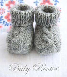 Busy Bessy Creatief: Baby Booties met kabelmotief ...