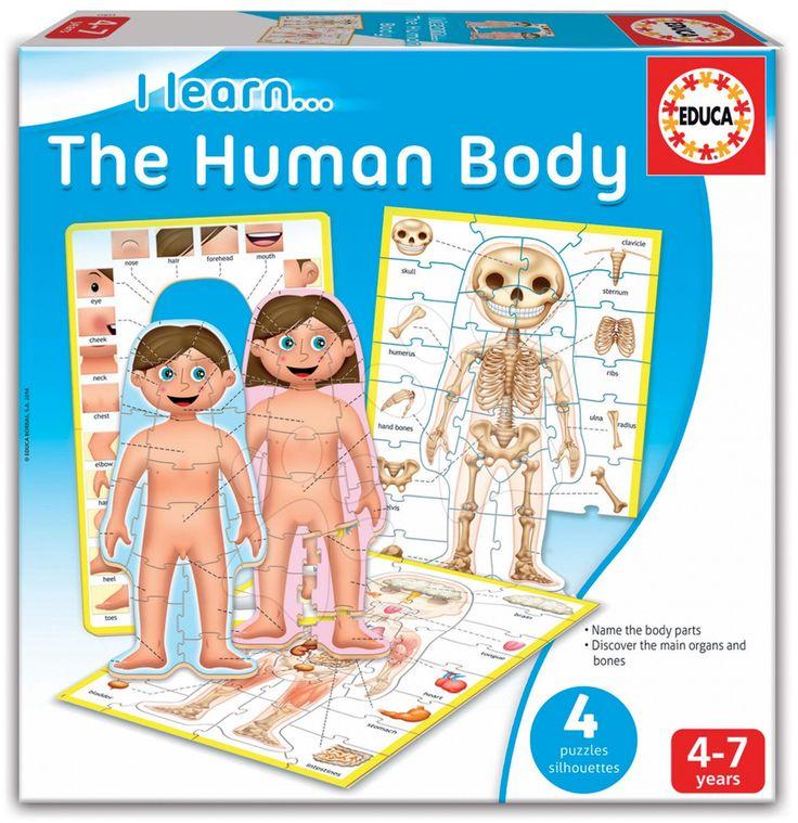 Dětská naučná hra Educa Učíme se Naše tělo v angličtině
