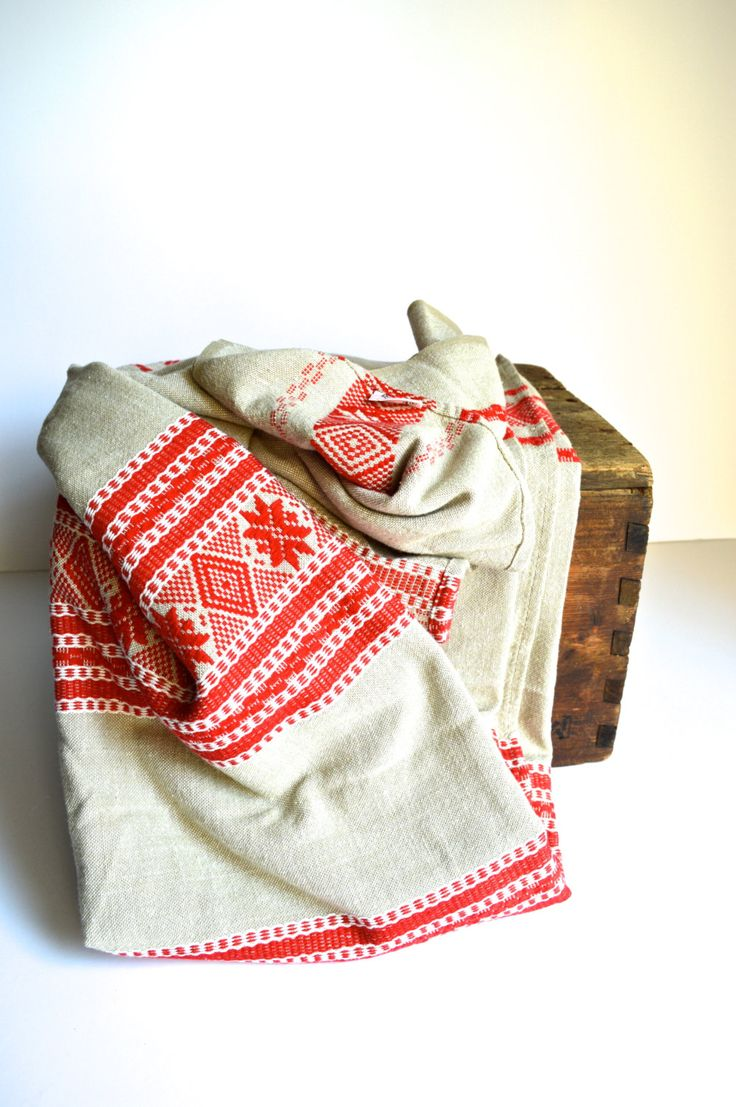Vintage Scandinavian Throw Tablecloth Finland Barker Textiles by AtomicHawks on Etsy