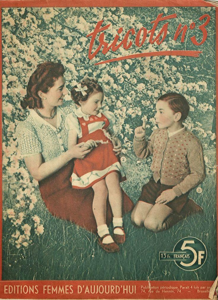 Yndlings Yvonne: Franske vintage strikkemønstre til børn - gratis strikkeopskrift