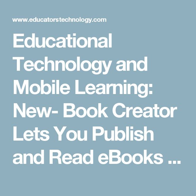 36 best book creator app images on pinterest book creator educational technology and mobile learning new book creator lets you publish and read ebooks fandeluxe Image collections