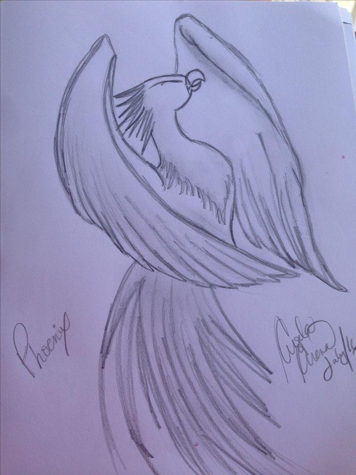 Phoenix pencil drawing