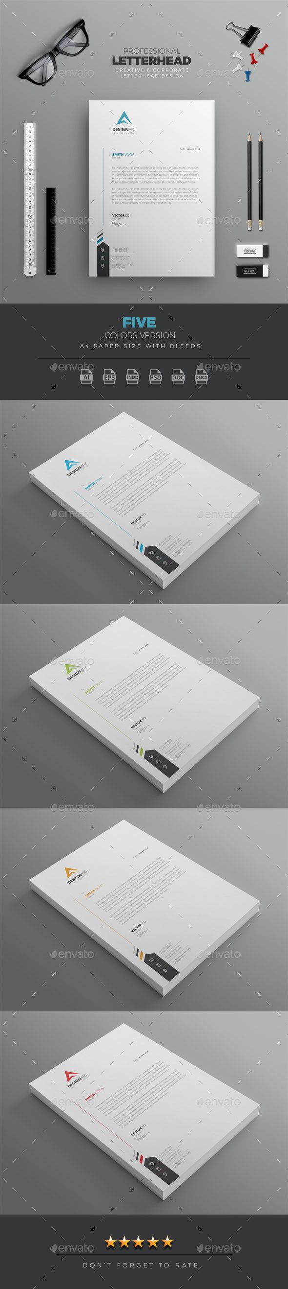 #Professional Letterhead - Stationery Print Templates.Download here: http://graphicriver.net/item/professional-letterhead/16337031?ref=arroganttype
