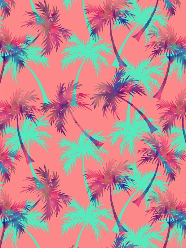 Tropical Palms by Tanya Brown, via Behance
