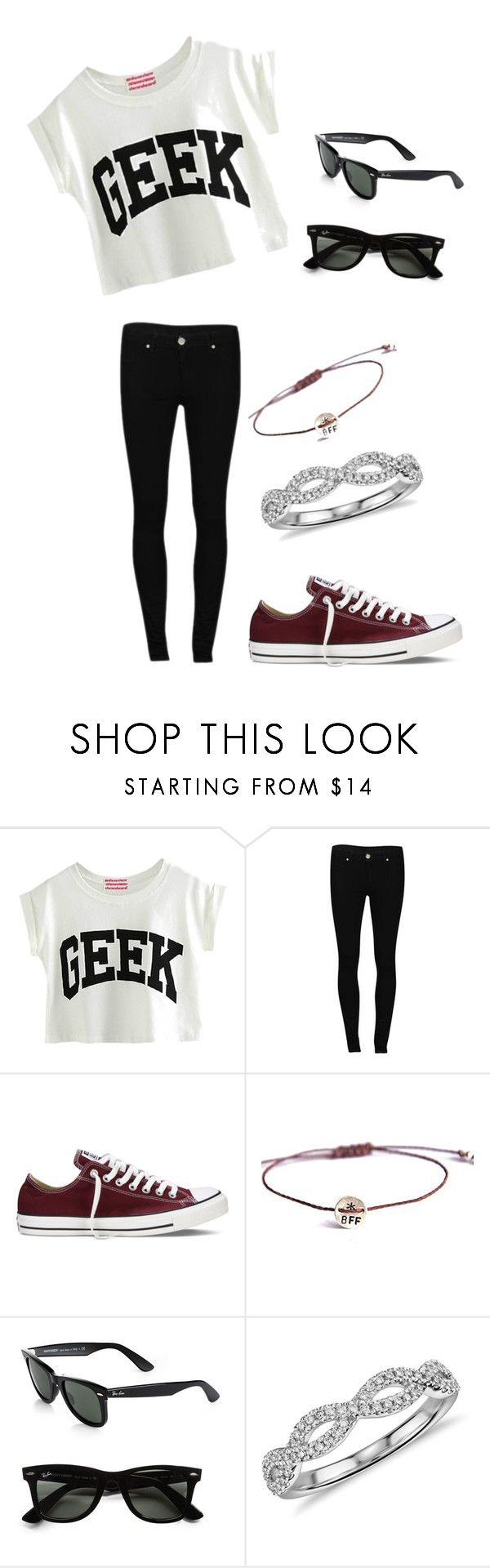 """@skaylergreen27"" by fashionuber ❤ liked on Polyvore featuring 2nd One, Converse, Vivien Frank Designs, Ray-Ban, Blue Nile, women's clothing, women's fashion, women, female and woman"
