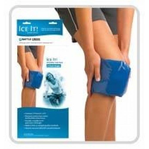 "Ice It! E-Pack 6"" x 12"" Refill - Knee & Shoulder -   For use alone or as a refill. Stays flexible when fully frozen to mold around painful area. Quickly reaches freezing temperature. Maintains low temperature. longer for optimum therapeutic benefit. Non-toxic fill enclosed in latex-free vinyl. Durable enough to be used several times a day. Ergonomic designs for specific areas such as the neck, shoulder, back, or wrist."