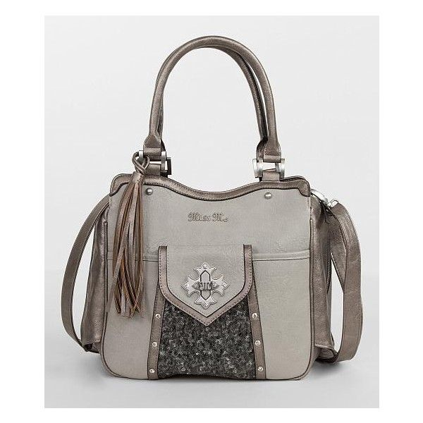 Miss Me Sequin Crossbody Purse ($99) ❤ liked on Polyvore featuring bags, handbags, shoulder bags, grey, grey crossbody, miss me purses, grey crossbody purse, grey handbags and miss me handbags