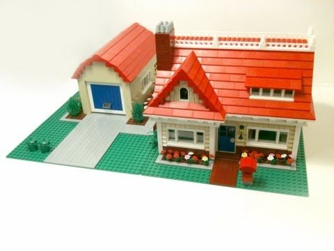 how to build a lego house roof