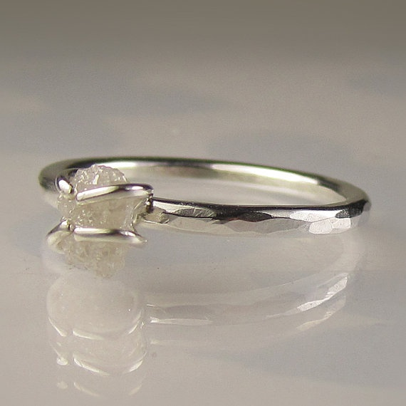raw diamond ring: I kinda like the symbolism. It's not perfect but that doesn't mean it isn't valuable and worth holding on to.