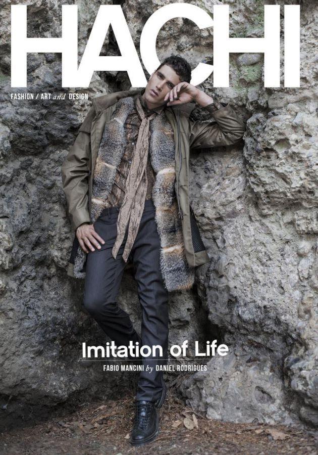 Fabio Mancini cover in Roberto Cavalli Hachi Magazine by Daniel Rodrigues sailing Giorgio ammirabile