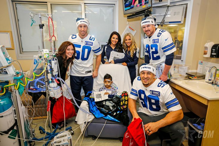 Views of theDallas Cowboys Annual Children's Hospital Visits.