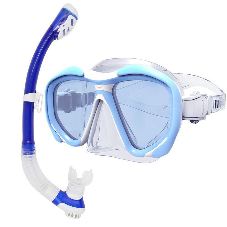 Whale Unisex High Quality mirror lens diving Mask Snorkel set scuba diving gear mask and snorkel set MMK2600+ SK100