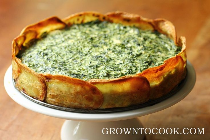 Spinach and spring herb torta in a potato crust (sounds delicious and could make it more paleo friendly perhaps with a sweet potato crust?)