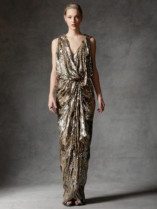 Dress by Reem Acra, Grecian. Goddess style.