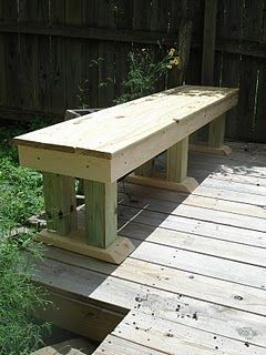 Deck Table Ideas a bench painted to match deck furnishings My Guys Could Make This Only 12 The Width To Use As A