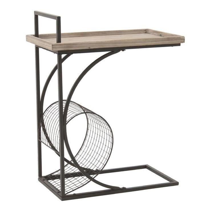 Помощна маса от метал и дърво / #мебели #обзавеждане
