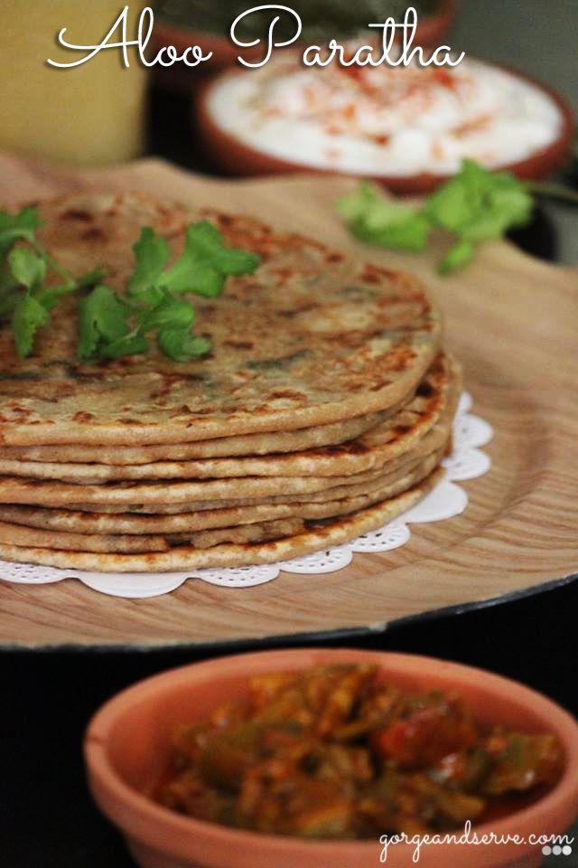Aloo Paratha ( Potato stuffed bread)