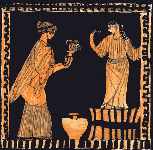 women's life in ancient greece through 102 greek women and religion, modern and ancient: festivals and cults female with the domestic world, but as already stated, this does not imply that.