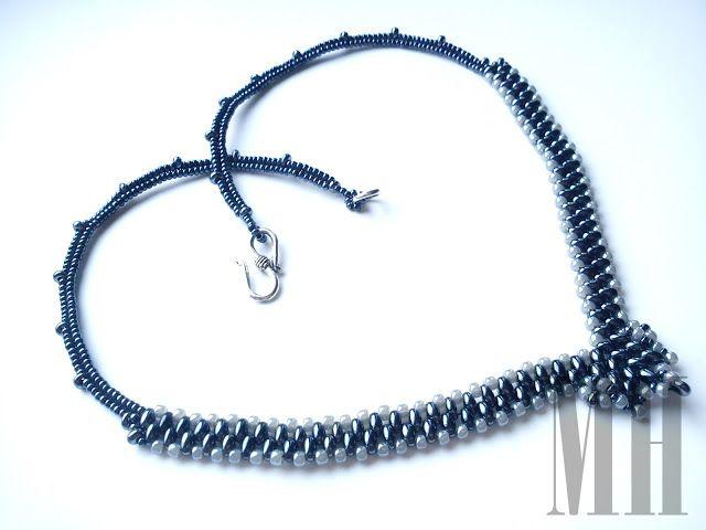 Naszyjnik i kolczyki z koralików Preciosa Twins   MH Biżuteria - cuda ręcznie wykonane