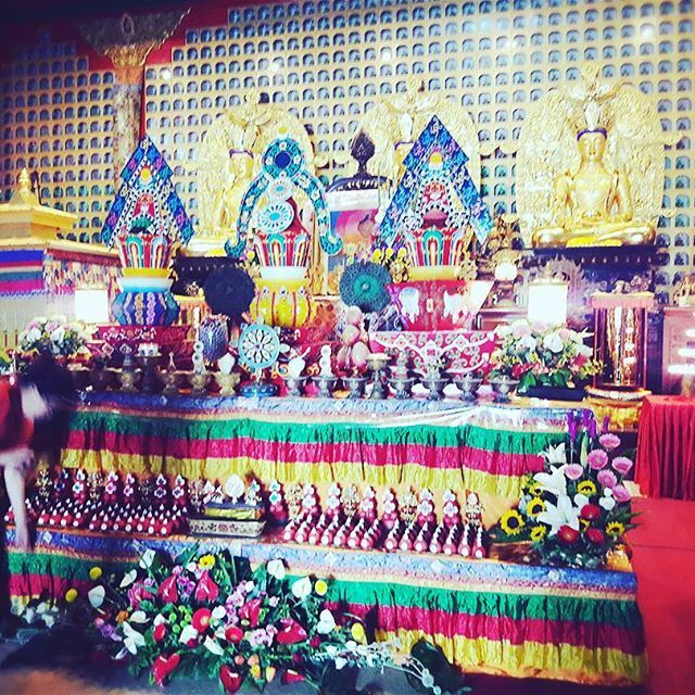 Few days ago #gururimpoche #offering puja 🌻🌻🌻 stayed there for two days 🙇#vajrayana #buddhism #dharma ❇✨#tibetan #greatful