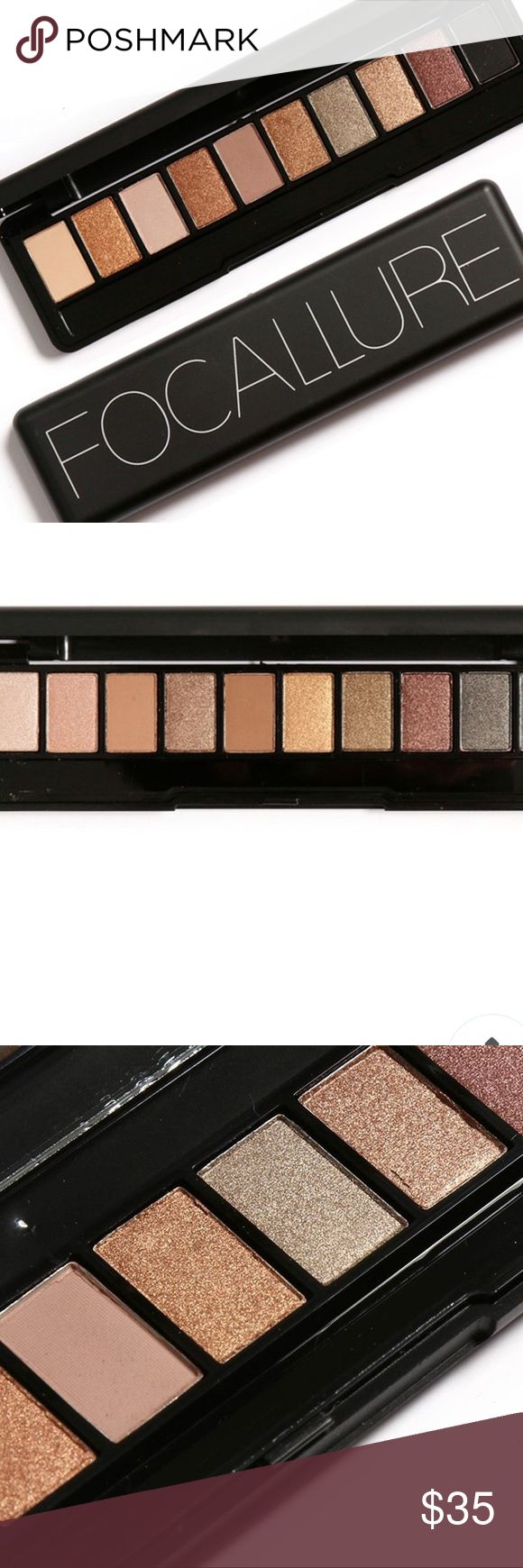 10 Color Matte Shimmer Eyeshadow Palette BNWT 10 color matte shimmer eyeshadow palette set with mirror and eyeshadow sponge. Beautiful colors to make you fabulous day or night, work or play. Free gift with purchase🎁 Makeup Eyeshadow