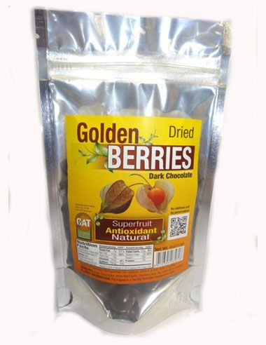 Dark Chocolate Golden Berries, also called Inca Berries, combine two delicious super foods into a healthy and nutritious snack. Dark Chocolate Golden Berries have a sweet and tart taste, similar to that of a candied lemon. You will enjoy them as much for their taste as for the nutrients they provide.