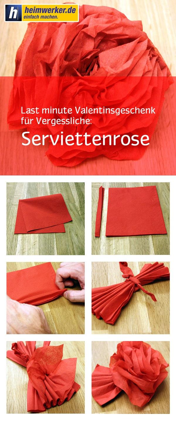 Rose basteln für den Valentinstag   Schnellanleitung     http://www.heimwerker.de/diy/feste-und-feiertage/valentinstag/deko-basteln/rose-basteln.html
