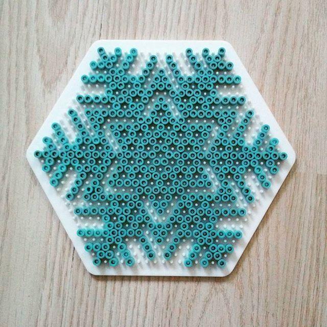 Snowflake hama beads by  darkmaman