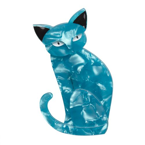 """Erstwilder Limited Edition Thomas Taffy Cat resin brooch. """"Just like the candy he is named for our Thomas is colourful light and fluffy. A bit of a stretch? Surely not."""""""