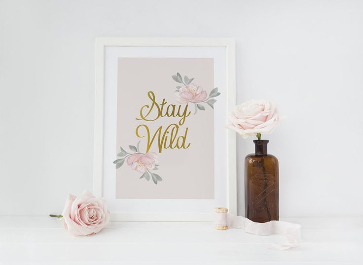 "Plakat vintage ""Stay Wild"" - LovelyDecor - Dodatki do domu"