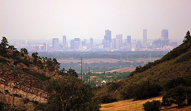 The view of Denver from the Ken Caryl Manor House