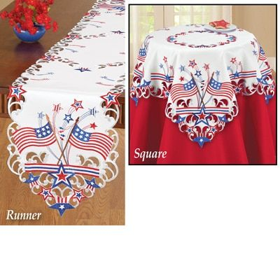 m.collectionsetc.com product embroidered-americana-flag-table-linens.aspx
