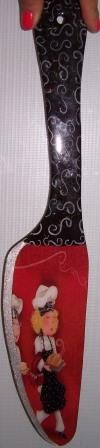 Cuchillo decorado con decoupage, hecho en JuliartexPerú