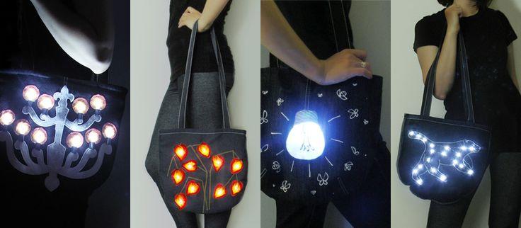 Одно неуловимое движение выключателем и сумка превращается в АРТ-объект, а Вы в его обладателя!