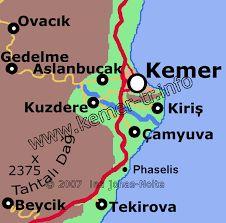 Bildergebnis für kemer türkei karte
